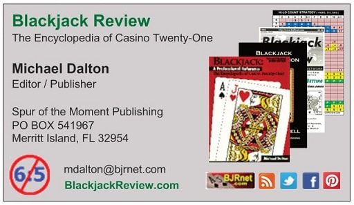Blackjack Review Network - Business Card