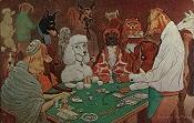 Dogs Playing Blackjack