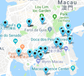 Macau Casino Map