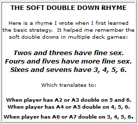 Soft Double Down Rhyme
