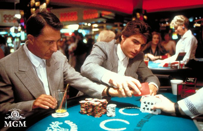 Tom Cruise and Dustin Hoffman in the movie Rainman (1988)