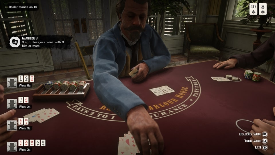 Playing Blackjack in Red Dead Redemption