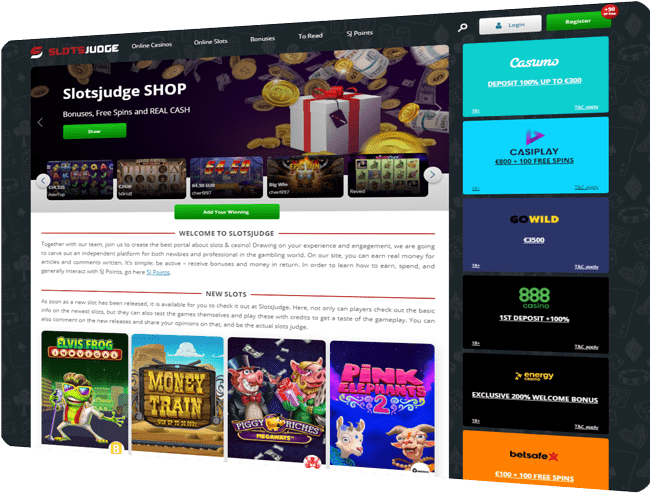 SlotsJudge.com – Your trusted advisor in the world of slots and gambling