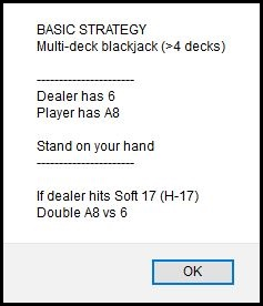 Basic Strategy Calculator App Results