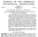 Journal of the American Statistical Association - Blackjack