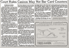 Court Rules Casinos Can Not Bar Card Counters