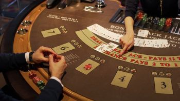 Man Playing Blackjack