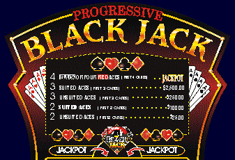Progressive Blackjack Signage From Mikohn