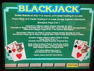 Video Blackjack Instructions