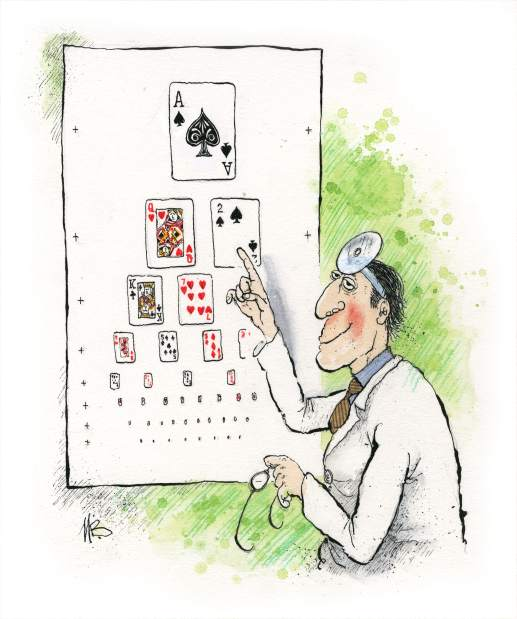Blackjack Eye Chart