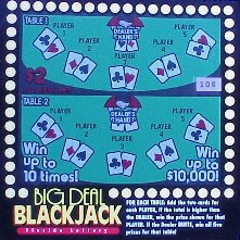 Big Deal Blackjack - Florida Lottery 1999