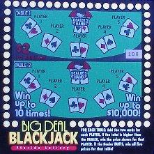 Big Deal Blackjack - Florida Lottery 1999