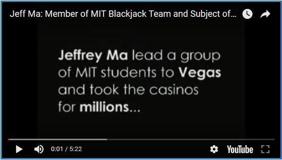 Jeff Ma - Member of MIT Blackjack Team